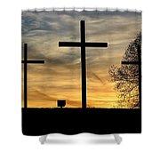 Easter Sunset Shower Curtain