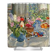 Easter Table Shower Curtain