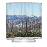 Easterly Winter View Shower Curtain by D K Wall