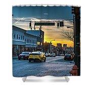 Eastern Avenue Sunset Shower Curtain