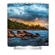 Eastern Glow At Sunset Shower Curtain
