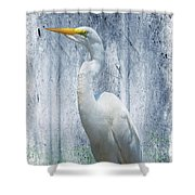 Eastern Great Egret Ardea Alba Modesta Shower Curtain