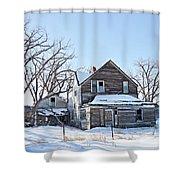 Eastern Montana Farmhouse Shower Curtain