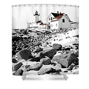 Eastern Point Light Shower Curtain