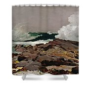 Eastern Point Shower Curtain by Winslow Homer