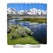 Eastern Sierra Mountains Shower Curtain