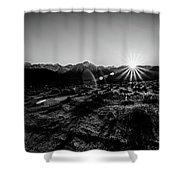 Eastern Sierra Sunset In Monochrome Shower Curtain