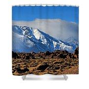 Eastern Sierras At Alabama Hills Shower Curtain
