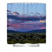 Eastern Sky At Sunset - Taos New Mexico Shower Curtain