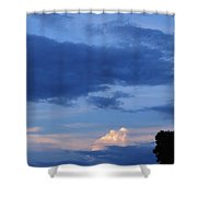 Eastern Sunset Over Hidden Lakes Shower Curtain