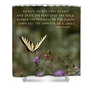 Eastern Tiger Swallowtail Butterfly - The Beauty Of The Wild Shower Curtain