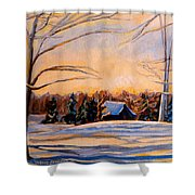 Eastern Townships In Winter Shower Curtain