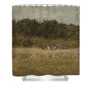 Eastman Johnson 1824 - 1906 Landscape Sketch Shower Curtain