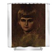 Eastman Johnson 1824-1906 Young Girl Shower Curtain