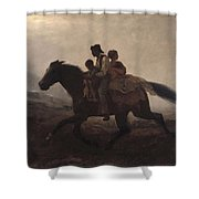Eastman Johnson - A Ride For Liberty--the Fugitive Slaves 1862 Shower Curtain