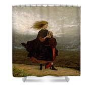 Eastman Johnson - The Girl I Left Behind Me Shower Curtain