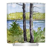 Eastport Maine Coastal Afternoon Shower Curtain