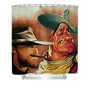 Eastwood And Wayne Shower Curtain