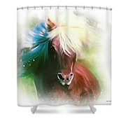 Easy Breezy Covergirl Shower Curtain