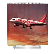 Easyjet Airbus A319 G-ezit Shower Curtain