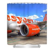 Easyjet Airbus A320 Shower Curtain