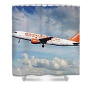 Easyjet Airbus A321-214 G-eztk Shower Curtain