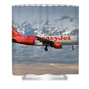 Easyjet Tartan Livery Airbus A319-111 Shower Curtain