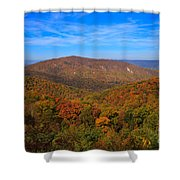 Eaton Hollow Overlook On Skyline Drive In Shenandoah National Park Shower Curtain