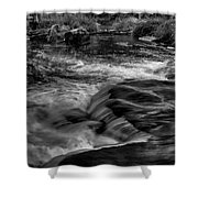 Eau Claire Dells Black And White Flow Shower Curtain