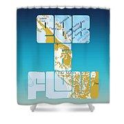 Ebb And Flow Bahamas Shower Curtain