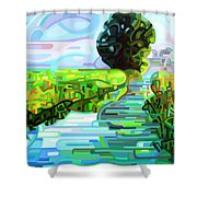 Ebb And Flow - Coppped Shower Curtain