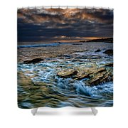 Ebb And Flow II Shower Curtain