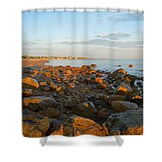 Ebb Tide On Cape Cod Bay Shower Curtain