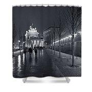 Ebertstrasse And The Brandenburg Gate Shower Curtain