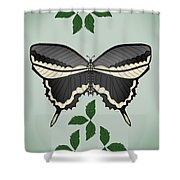 Ebony And Ivory Shower Curtain