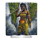 Ebony Elf Shower Curtain