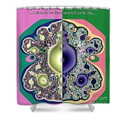Ecclesiastes 3 A Time To Be Born And A Time To Die Fractal Shower Curtain