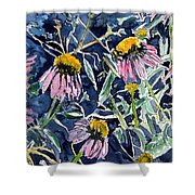 Echinacea Cone Flower Art Shower Curtain