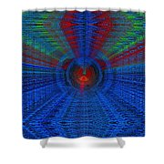 Echo Chamber Cubed Shower Curtain