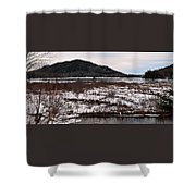 Echo Lake In Winter  Shower Curtain