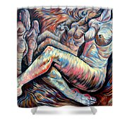 Echo Of A Nude Gesture II Shower Curtain