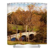 Echoes Of Courage Shower Curtain