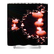 Echoing Candles  Shower Curtain