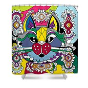 Eclectic Cat Shower Curtain