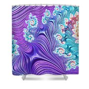 Eclectic Ripples Shower Curtain