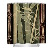 Eclipse Bamboo With Frame Shower Curtain
