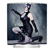Eclipse Of The Black Cat Shower Curtain