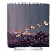 Eclipse Panorama Shower Curtain