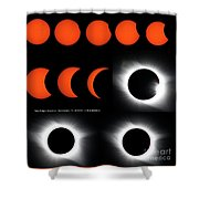 Eclipse Sequence Shower Curtain
