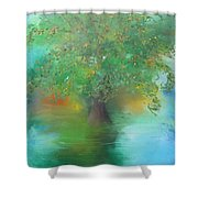 Eclipsed Sunset Shower Curtain